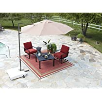 Taupe,Southern Sales 10 Inch Polyester Round Offset Patio Umbrella