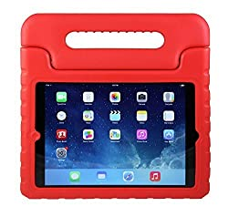 iPad 2 Kids Case: Stalion® Safe Shockproof Protection for Apple iPad 2nd 3rd & 4th Gen (Cherry Red) Ultra Lightweight + Comfort Grip Carrying Handle + Folding Stand