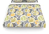 Kess InHouse Julia Grifol 'Simple Circles in Grey' 88 by 88-Inch Duvet, Queen