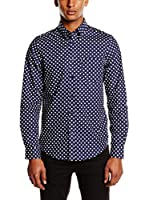 Ben Sherman Camisa Hombre Ls Large Polka Dot (Azul Marino)