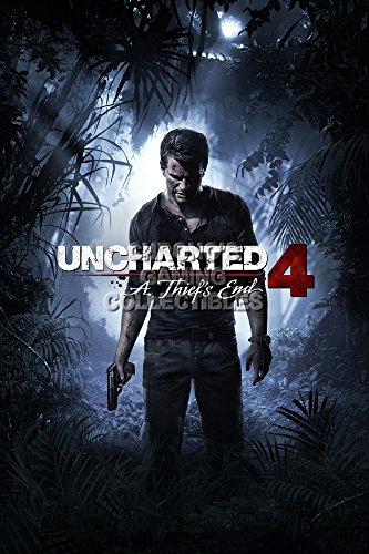 "CGC Poster grande, motivo: Uncharted 4 A Thief s End, PS3, PS4, UCH035, Carta, 24"" x 36"" (61cm x 91.5cm)"