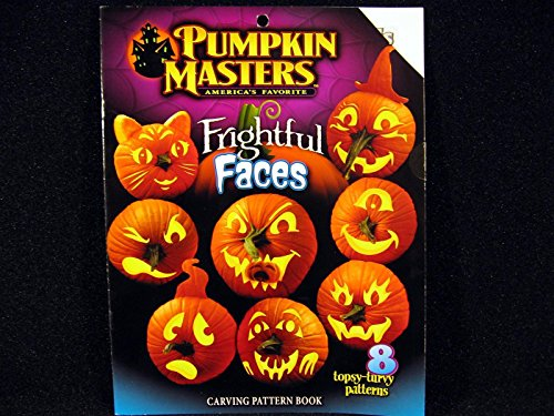Pumpkin Masters FRIGHTFUL FACES Carving Pattern Book 8 Patterns Halloween (2016 Pumpkin Carving Ideas)