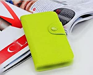 Wallet Diary Flip Style Magnetic PU Leather Flip Case Cover For Samsung GALAXY YOUNG S6310 Green