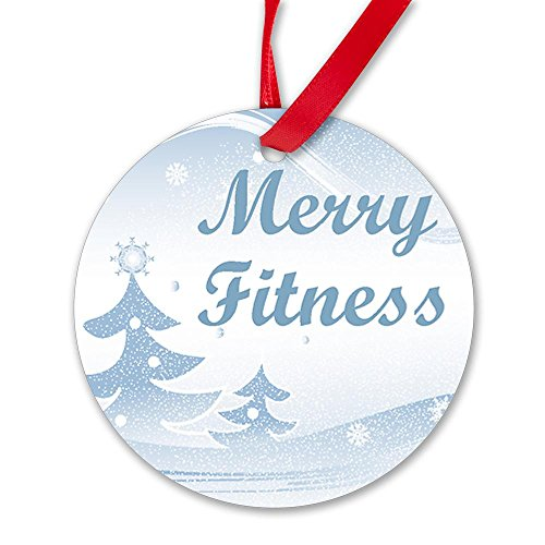 CafePress - Santa 'Merry Fitness' Ornament (Round) - Round Ornament