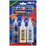 1 x BLACK 22ml AMOS PEELABLE GLASS ART PAINT OUTLINER