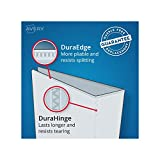 "Avery Durable View Binder, 1"" Slant Rings, 220-Sheet Capacity, DuraHinge, White (17012)"