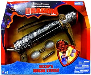 Train Your Dragon Movie Playset Hiccups Dragon Striker: Toys & Games