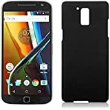 Johra High Quality Black Hard Back Cover For Motorola Moto G4 Plus (4th Generation)