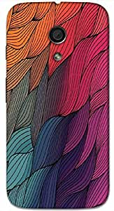 Timpax protective Armor Hard Bumper Back Case Cover. Multicolor printed on 3 Dimensional case with latest & finest graphic design art. Compatible with Motorola Moto -G-2 (2nd Gen )Design No : TDZ-21742