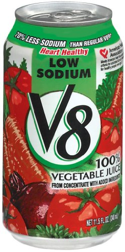 V8 Low Sodium, 11.5 Ounce (Pack Of 24) front-603094