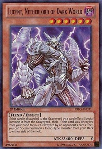 Yu-Gi-Oh! - Lucent Netherlord of Dark World (PRIO-EN031) - Primal Origin - 1st Edition - Super Rare (Dark World compare prices)