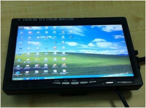 Riorand® 7 Inch Color Digital Tft Lcd Screen Car Rear View Mirror Monitor Vga+Av+Hdmi Rr-D432