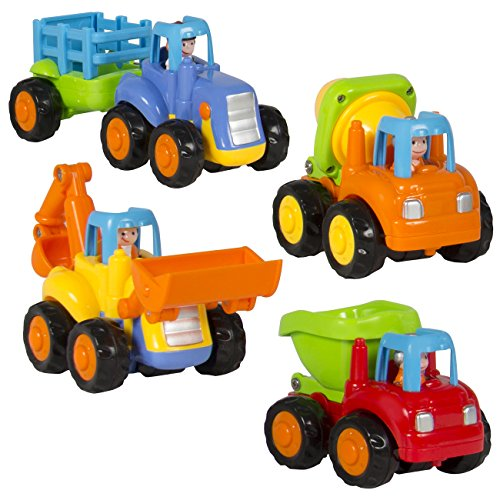 Best-Choice-Products-Push-and-Go-Friction-Powered-Car-ToysTractor-Bull-Dozer-truck-Cement-Mixer-Dump-truck
