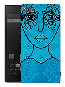 "Humor Gang Blue Line Woman Printed Designer Mobile Back Cover For ""Sony Xperia Z5 Mini - Compact"" (3D, Matte, Premium Quality Snap On Case)"