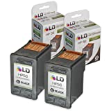 LD © Remanufactured Replacement Ink Cartridges for Hewlett Packard C6656AN (HP 56) Black (2 pack)
