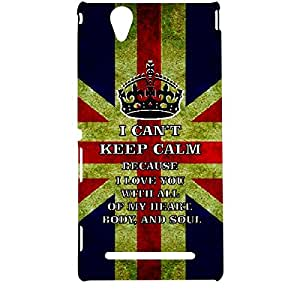 Skin4gadgets I CAN'T KEEP CALM BECAUSE I love you with all of my heart, body, and soul - Colour - UK Flag Phone Designer CASE for SONY XPERIA T2 ULTRA