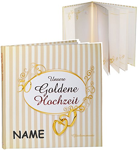 erinnerungsalbum fotoalbum incl name goldene. Black Bedroom Furniture Sets. Home Design Ideas