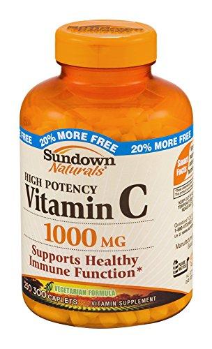 Sundown Naturals Vitamin Supplement High Potency Vitamin C 1000 mg - 300 Caplets (Sundown Vitamin C 1000 compare prices)