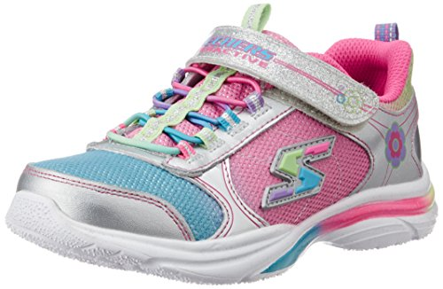 skechers kids girls game kicks light up sneaker little. Black Bedroom Furniture Sets. Home Design Ideas