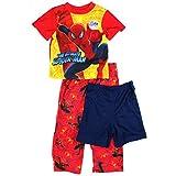 Spider-Man Boys Red 3 pc Pajamas Set