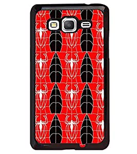 Printvisa Red And White Spider Pattern Back Case Cover for Samsung Galaxy Core Prime G360