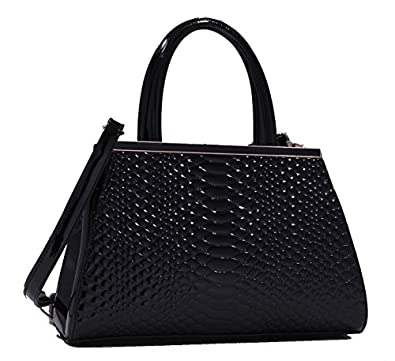 Mylux® Women/Girl Doctor Purse Style Office Lady Handbag k80313l Black