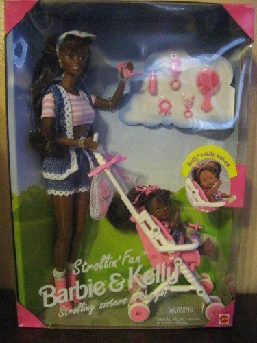 Strollin Fun Barbie & Kelly - African American Version