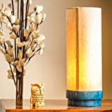 ExclusiveLane 14Inch Wooden/Decorative Lamp Turqouise Blue - Gift Item