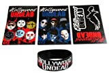 Hollywood Undead 4-Piece Set Stickers & Silicone Wristband