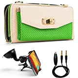 Venice Wallet Clutch Bag Carrying Case For Nokia Lumia Smartphones (Windows Mobile & Android Phones) + Auxiliary...