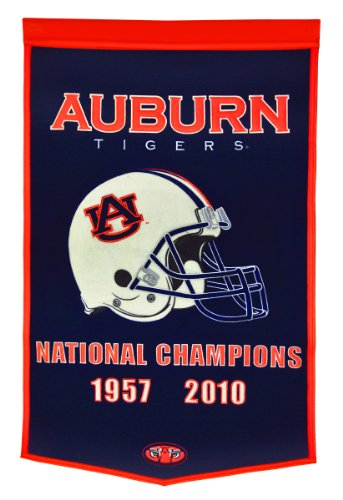 NCAA Auburn Tigers National Champion Dynasty Banner Winning Streak Wall Banners autotags B000AKZMIU