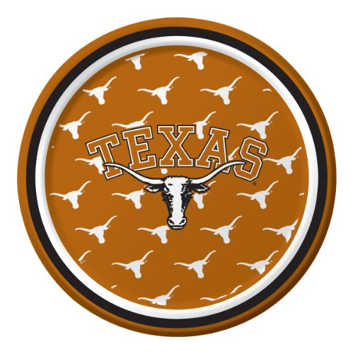Creative Converting Texas Longhorns Dessert Paper Plates (8 Count)