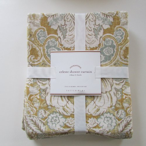 Pottery Barn Celeste Shower Curtain Shower Curtain Liners