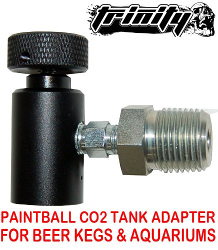 Trinity Paintball Co2 Tank Adapter for Bar Keg Draft Beer Tap Kegerator, Aquarium, Home Beer Brewing , Paintball Co2 Tank Adapter for Beer Keg, Portable Co2 Tank for Beer Kegerator, fast shipping