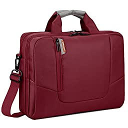 BRINCH(TM) 17.3 inch New Soft Nylon Waterproof Laptop Computer Case Cover Sleeve Shoulder Strap Bag with Side Pockets Handles and Detachable for Laptop / Notebook / NetBook / Chromebook,Colour Red