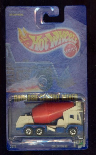 Hot Wheels 1991-144 Oshkosh Cement Mixer All Blue Card 1:64 Scale