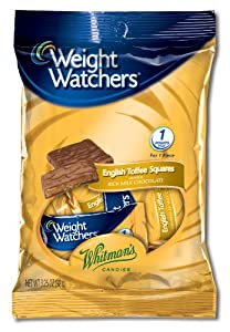 Weight Watchers English Toffee Squares, 3.25-Ounce Peg Bags (Pack of 5)