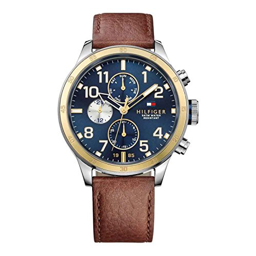 Tommy Hilfiger Multifunction Brown Leather Men's watch - TH1791137J