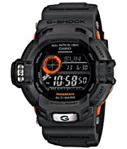 Limited Edition Black Orange Plastic Resin G-Shock Riseman Tough Solar