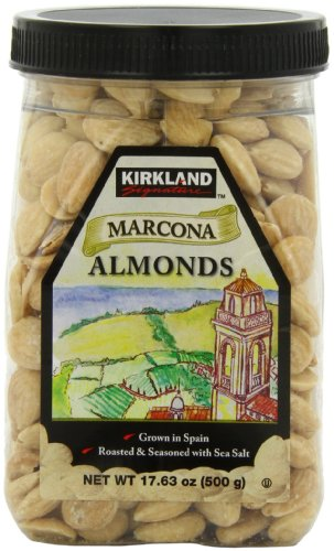 Kirkland Marcona Almonds, Roasted and Seasoned with Sea Salt, 17.63 Ounce (096619504657)