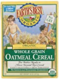 Earth's Best Certified Organic Whole Grain Oatmeal Cereal -- 8 oz