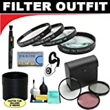 Deluxe 7 Piece Filter Kit Which Includes A +1 +2 +4 +10 Close-Up Macro Filter Set with Pouch + High Resolution 3-piece Filter Set (UV, Fluorescent, Polarizer) + 6-Piece eluxe Cleaning Kit + Lens Adapter Tube (If Needed) + Lenspen + Lens Cap Keeper + DB ROTH Micro Fiber Cloth For The Fujifilm FinePix H35 EXR(H35EXR), HS50 EXR (HS50EXR) Digital Camera
