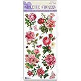 Violette Stickers Bright Pink Roses