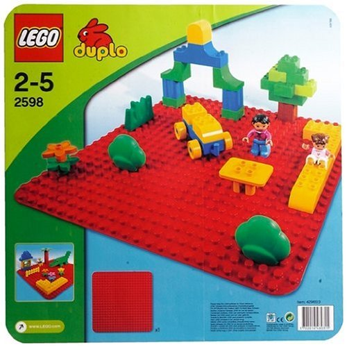 LEGO DUPLO 2598 Large Red Building plate