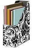 Snap-N-Store Magazine File Box, 12 1/4 H x 9 3/4 D x 3 7/8 W, Black and White Scroll Pattern (SNS01837)