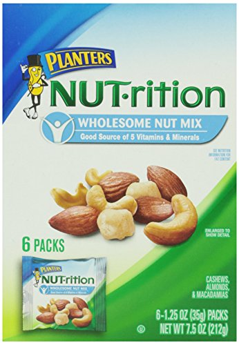 Planters Nutrition Wholesome Nut Mix Pack, 6 Pouches, 7.5 Ounce (Nut Packs compare prices)