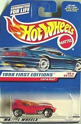Mattel Hot Wheels 1998 First Editions 1:64 Scale Red Cat-A-Pult Die Cast Car #631 - 1