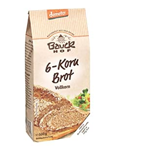 Bauckhof Bio 6-Korn Brot (500 gr)