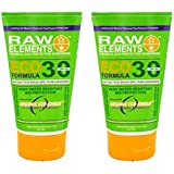 Raw Elements Eco Form Sunscreen, SPF 30 Plus - 3 Oz, 2 Pack