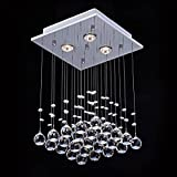 Saint Mossi Crystal Rain Drop Chandelier Modern & Contemporary Ceiling...